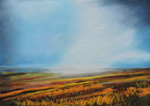 autumn on the moors size20'' x 16'' to include oak frame