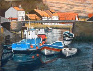 Staithes Beck 20'' x 16'' to include solid oak frame 20'' x 16'' £225