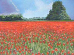 Poppies - solid oak frame is 21'' x 17'' - £225.jpg