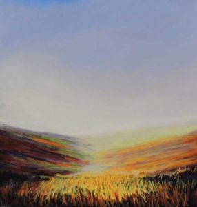 moorland glow 22''x 22'' in solid oak frame £275