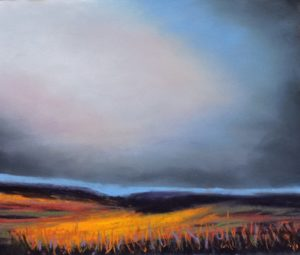 moorland glow 12'' x 12'' to include solid oak frame £110